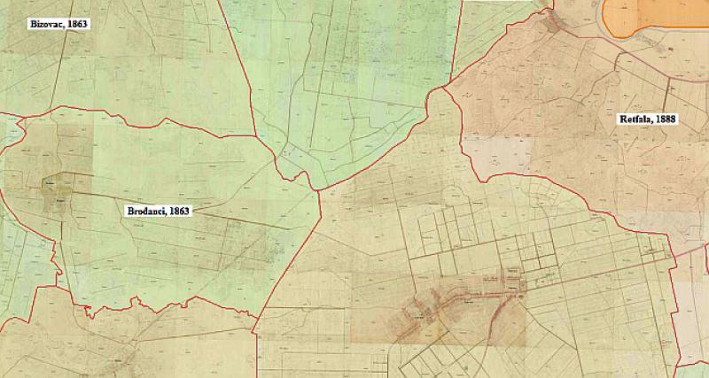 katastarska mapa srbije PRASTARE KATASTARSKE MAPE: Pogledajte kako je vaše mjesto  katastarska mapa srbije