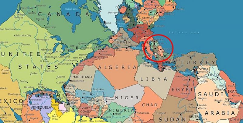 Kanada Karta Svijeta.Karta Svijeta Starog 200 Milijuna Godina Evo Gdje Bi Na